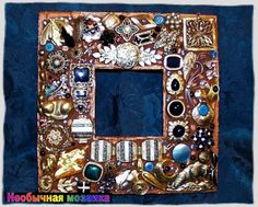 Mosaic of old jewelry
