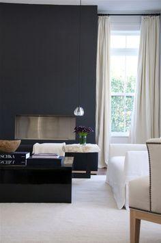 deepest charcoal grey fireplace = Briggs Edward Solomon