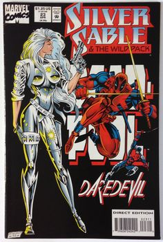 Silver Sable and the Wild Pack #23 Deadpool and Daredevil Appearance VF/NM 9.0 - Marvel Comics