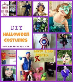 Get ready for Halloween and get some ideas with this list of DIY Halloween Costumes & Makeup.