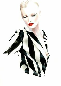 Antonio Soares, fashion illustrator.