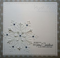 Paper Firefly: Sparkly snowflake