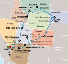 See a bunch of national parks on this road trip route. Your iconic and unexpected journey, culminating at the Grand Canyon, takes you past mystical chimneys, imposing mesas in Monument Valley and the rock-hewn faces of former presidents. Travel Maps, Travel Usa, Places To Travel, Places To Visit, Beach Travel, Travel Packing, Travel Backpack, Beach Trip, Arizona Road Trip