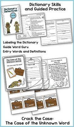 Dictionary Skills…A fun way to teach dictionary skills