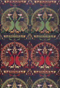 'Bird' Textile Design, 14th century