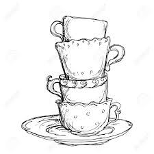 Image result for tea cups coloring pages adults