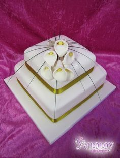 Square Lilies by Yummy Cake Company