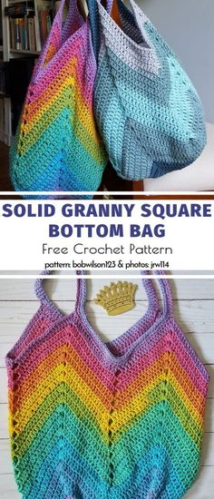 Crochet bag 452400725069539902 - Solid Granny Square Bottom Bag Free Crochet Pattern Source by Crochet Beach Bags, Bag Crochet, Crochet Market Bag, Crochet Purses, Crochet Stitches, Crochet Hooks, Free Crochet, Crochet Patterns, Pdf Patterns