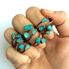 Hey, I found this really awesome Etsy listing at https://www.etsy.com/listing/228693787/turquoise-nugget-ring-raw-turquoise