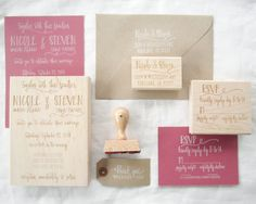 Wedding Invitation Suite Wedding Invitation RSVP by papersushi