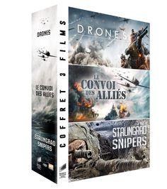 Coffret guerre : Drones + Snipers + Le convoi des alliés - DVD NEUF