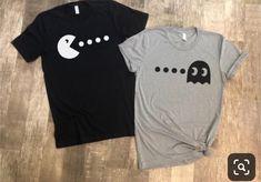 Pacman Shirts Matching Pacman Shirts Cute Couples Shirts - Weird Shirts - Ideas of Weird Shirts - Cute Valentines Day gift Pacman Shirts Matching Pacman Shirts Cute Couples Shirts Best Friend T Shirts, Bff Shirts, Cute Shirts, Best Friend Outfits, Couple Shirt Design, Funny Couple Shirts, T Shirt Couple, Couple Tees, Matching Couple Outfits