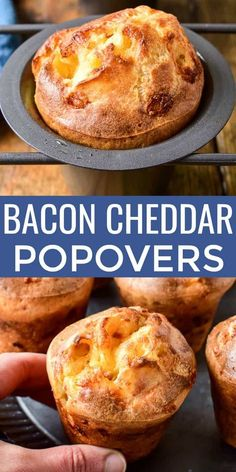 Take your dinner rolls to the next level with these Bacon Cheddar Popovers! Take your dinner rolls to the next level with these Bacon Cheddar Popovers! Scones, Bread Recipes, Cooking Recipes, Cooking Pork, All Recipes, Bacon Recipes For Dinner, Yorkshire Pudding Recipes, Popover Recipe, Wrap