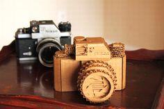 DIY Nikon SLR Cardboard Camera made from recycled material