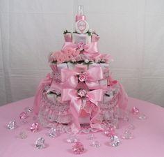Diaper Cake - Remember the Faux Diamonds