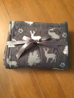Deer Bear and Fish Hunter's Flannel by DefinitelyBabyShop on Etsy