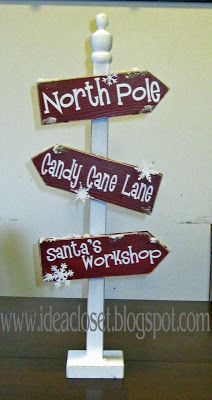 Idea Closet: Christmas Sign Post, $15 (stands almost 2 feet tall)