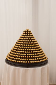 Ferrero Rocher tower instead of a traditional wedding cake. Might mix in some Lindt chocolates too? Wedding Sweets, Wedding Cakes, Luxury Wedding, Our Wedding, Wedding Ideas, Wedding White, Egyptian Wedding, Art Deco Cake, Cadbury Chocolate