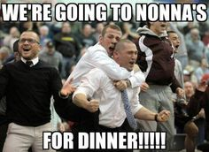 We're going to Nonna's for dinner