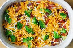 If you love chicken and bacon recipes (and who doesn't?), you will really enjoy this easy Broccoli Bacon Cheddar Chicken dinner. Just throw everything on top of chicken in casserole dish, and then bake in Bacon Recipes, Low Carb Recipes, Diet Recipes, Chicken Recipes, Cooking Recipes, Healthy Recipes, Cooking Steak, Cooking Bacon, Cooking Turkey