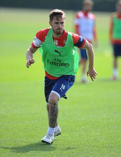 Arsenal train ahead of FA Cup semi-final: Aaron Ramsey