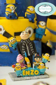 Topo de bolo Meu malvado favorito / Minions <br>Feito personalizado sob encomenda.