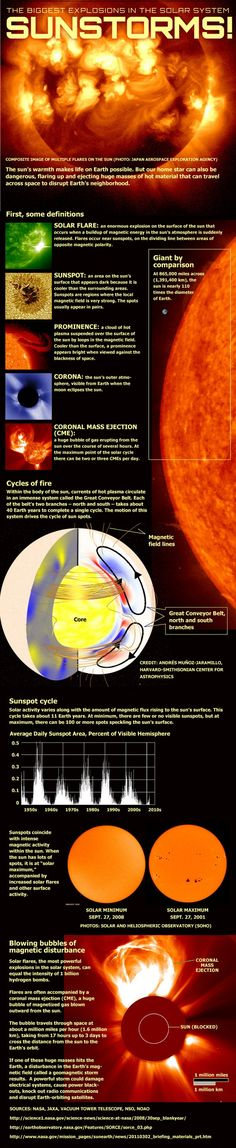 Anatomy of Sun Storms & Solar Flares (Infographic)