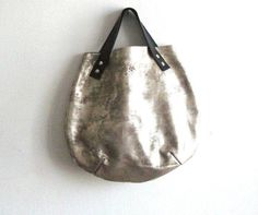 Little basket hand bag - silver -  (This is the last one in this color). $89.00, via Etsy.