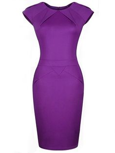 High Quality Crew Neck Blended Pure Bodycon-dress Bodycon Dress from fashionmia.com
