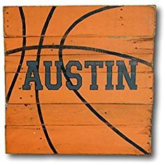 Basketball Sign / Wood Sports Sign / Boys sports themed bedroom or nursery decor - personalized name sign