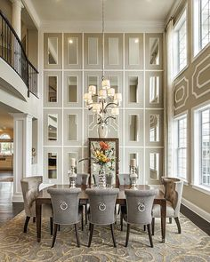 I wouldn't mind hosting a dinner party in this dining room! By Toll Brothers