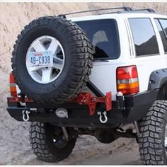 Rock Hard 4x4™ Patriot Series Rear Bumper with Tire Carrier for Jeep Grand Cherokee ZJ 1993 - 1998 [RH-7000]