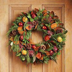 Holiday Fruit Wreath