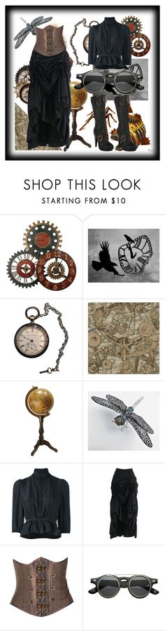 """Steampunk"" by catthepunisher ❤ liked on Polyvore featuring Uttermost, Dsquared2 and Ellie"