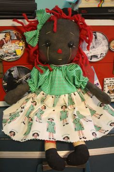 Belindy raggedy Ann doll