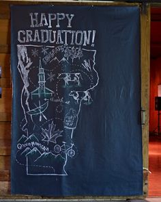 Graduation party photo backdrop idea