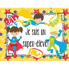 Échelle d'autonomie Superhero Classroom, Superhero Party, Classroom Themes, Elementary Counseling, Career Counseling, Leader In Me, Hollywood Theme, Cycle 3, Teaching French