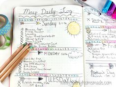 Daily Log for Bullet Journal