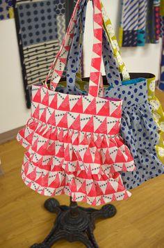 フリルトートバッグ | コッカファブリック・ドットコム|布から始まる楽しい暮らし|kokka-fabric.com