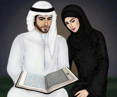 Find images and videos about couple, islam and muslim on We Heart It - the app to get lost in what you love. Love Cartoon Couple, Cute Love Cartoons, Anime Love Couple, Girl Cartoon, Couples Musulmans, Cute Muslim Couples, Muslim Girls, Cute Couple Drawings, Cute Couple Art