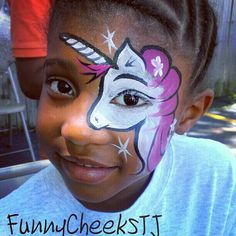 Unicorn Face painting by FunnyCheeksTJ