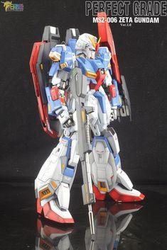 PG Zeta Gundam - Customized Build Modeled by Jon-K Gunpla Custom, Custom Gundam, Zeta Gundam, Transformers, Iron Man, Robot, Cartoon, Guys, Fictional Characters