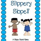 This activity is a slope board game that resembles the childhood game of Chutes and Ladders.