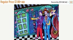 45% Off Sale- New Orleans Jazz Musicians Art Art Print Poster by Heather Galler (HG721)
