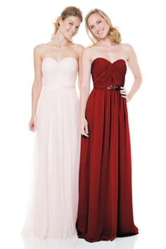 Bari Jay Bridesmaids   Bridesmaid Dresses - Style BC-1500 - Shirred sweetheart bodice, natural waist gown. Comes with simple removable self tie belt. #Bridesmaids #BridesmaidsDress #WeddingPlanning