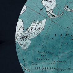 Celestial Constellations Zodiac Northern Hemisphere Print Vintage Image