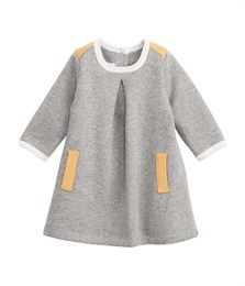 Baby girl brushed sweatshirt dress - English College - Baby Girl