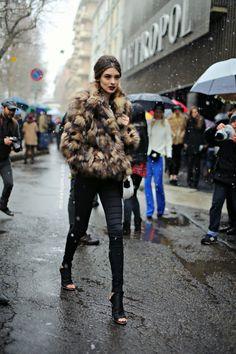 Carolina Thaler after Dolce&Gabbana, Milano, February 2013 - Models Jam