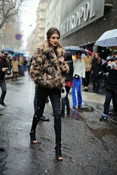 Carolina Thaler after Dolce&Gabbana, Milano, February 2013 - Models Jam