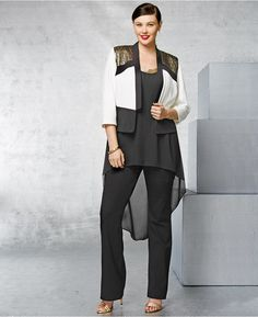 78524d98cce City Chic Plus Size Colorblocked Embellished Blazer Curvy Girl Fashion